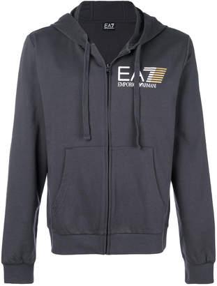 Emporio Armani Ea7 zip front logo hoodie