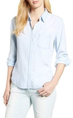 Rails Ingrid Raw Hem Chambray Shirt