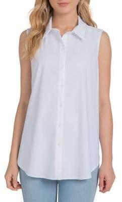 Lysse Sleeveles Button Down Shirt