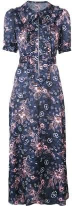 Jill Stuart frilled floral shirt dress