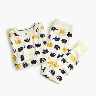 J.Crew Girls' pajama set in elephants