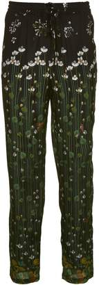 RED Valentino Floral Embroidered Trousers