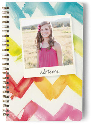 Watercolor Chevron Day Planner, Notebook, or Address Book