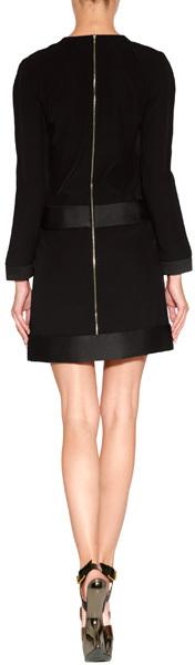 Victoria Beckham Victoria, Sequin Dot Dress in Black/Copper