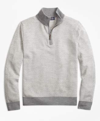 Brooks Brothers Merino Wool Basketweave Half-Zip