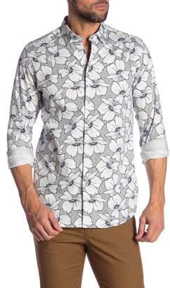 Ted Baker Floral Print Trim Fit Shirt