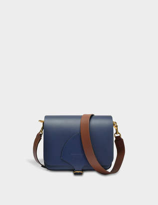 Burberry The Square Satchel Bag in Mid Indigo Soft Leather