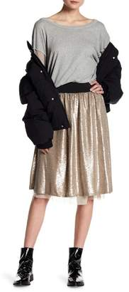 Free People Flashing Lights Sequin Midi Skirt