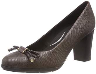 """Geox Women's Annya 12 Dress 3"""" Heel with Arch Support and Cushioning Pump"""