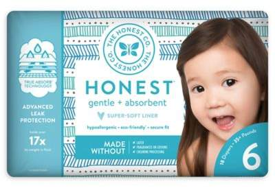 The Honest Company Honest 18-Pack Size 6 Diapers in Tribal Pattern