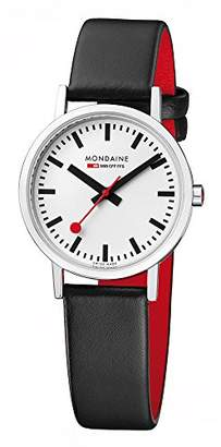 Mondaine Women's 'SBB' Swiss Quartz Stainless Steel and Leather Casual Watch