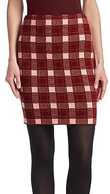 Akris Punto Women's Tweed Check Mini Skirt