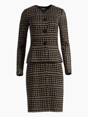 St. John Shimmer Rectangle Jacquard Knit Jacket