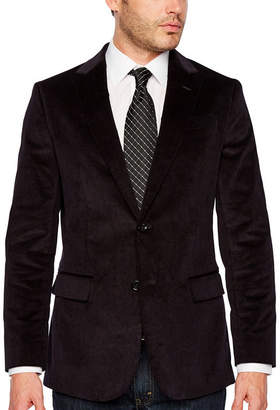 STAFFORD Stafford Corduroy Stretch Slim Fit Full Lined Sport Coat