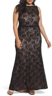 Morgan & Co. Lace Square Neck Gown