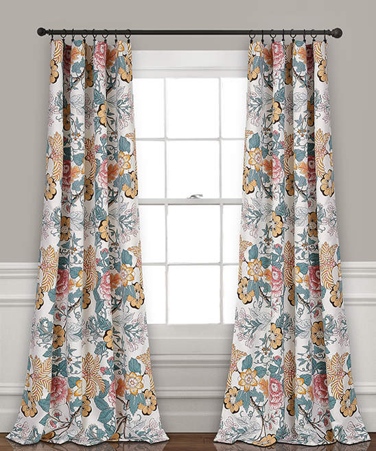 Blue & Yellow Sydney Room-Darkening Curtain Panel - Set of Two