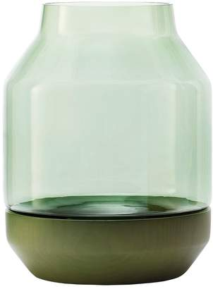 Muuto Elevated Wood & Glass Vase