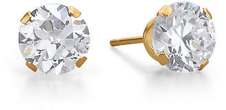 JCPenney FINE JEWELRY Cubic Zirconia Stud Earrings, 10K Gold Round