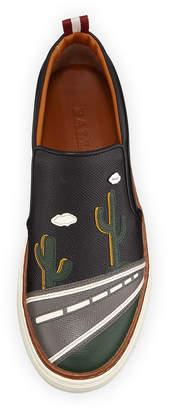 Bally Men's Herrison Cactus Leather Skate Sneakers