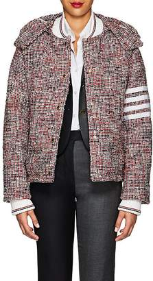 Thom Browne Women's Down Wool-Blend Tweed Puffer Coat