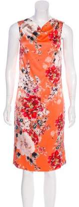 St. John Silk Printed Dress