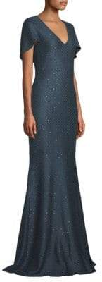 St. John Shimmer Sequin Knit Mermaid Gown