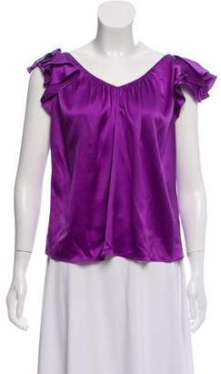 Rebecca Taylor Fluted Silk Top