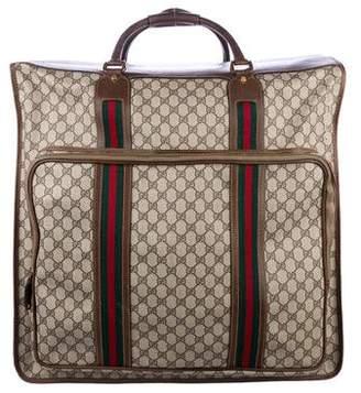 Gucci Vintage GG Plus Large Garment Bag