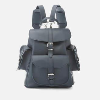 Grafea Women's Midnight Medium Leather Backpack - Blue