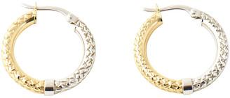 One Kings Lane Vintage 14K Gold Hoop Earrings - Owl's Roost Antiques