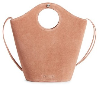 Elizabeth And James Small Market Suede Shopper - Beige $445 thestylecure.com