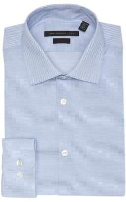 John Varvatos Small Check Slim Fit Dress Shirt