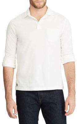 Ralph Lauren Hampton Long-Sleeve Cotton Polo
