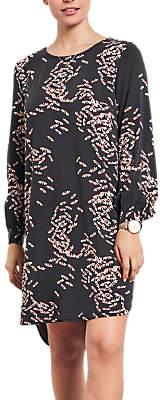Hush Dragonfly Print Dress, Black/Pink