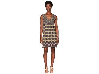 M Missoni Lurex Zigzag V-Neck Dress