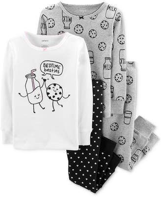 Carter's Carter Toddler Girls 4-Pc. Cotton Milk & Cookies Pajamas Set