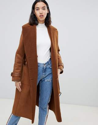 Urban Code Urbancode Rener reversible teddy duster coat