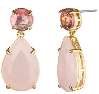 Carolee Round & Pear Double Drop Earrings