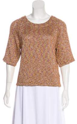 Veda Metallic Short Sleeve Top