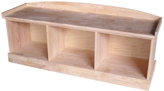 International Concepts 3-Compartment Storage Bench