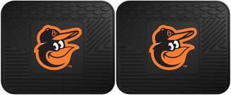 Fanmats FANMATS Baltimore Orioles 2-Piece Backseat Utility Mat Set