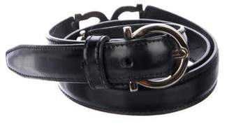 Salvatore Ferragamo Gancini Narrow Belt