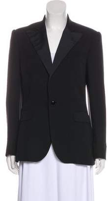 Ralph Lauren Black Label Silk Peak-Lapel Blazer