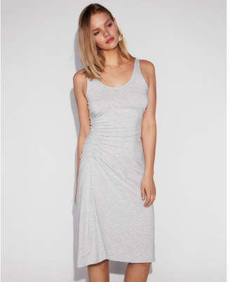 Express ruched side midi tank dress