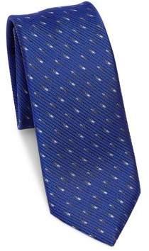 Saks Fifth Avenue MODERN Silk Dash-Print Tie