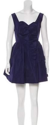 Miu Miu Pleated Mini Dress