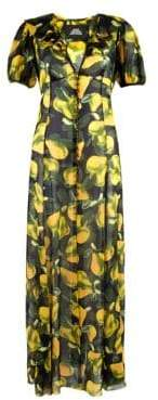 Marc Jacobs Pear Georgette Maxi Dress