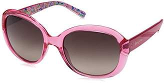 Lilly Pulitzer Women's Magnolia Polarized Round Sunglasses