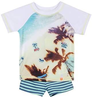 3 Pommes Baby Boys' 3L38003 Swimwear Set,(Manufacturer Sizes: 9/12M)