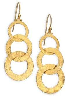 Gurhan Hoopla 24K Yellow Gold Infinity Triple-Drop Earrings